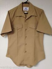 USMC Marine Corps Short Sleeve Khaki Dress Uniform Shirt Alpha A Select Size