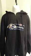 NWT Mens Big & Tall Baltimore Ravens Quarter-Zip Fleece Pullover Black Hoodie