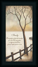 Our Family is like the Branches of a Tree Winter Quote Framed Art Print 18x9