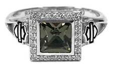 Harley-Davidson Women's Ring, Black Ice Crystal Outline Bling Ring HDR0362