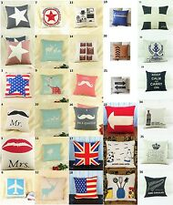 Coffee Fashion linen Throw Pillow Cases Home Decorative Cushion Cover 16.5""