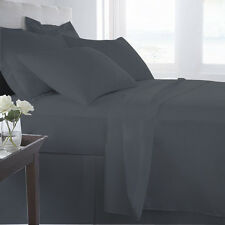 100% EGYPTIAN COTTON ALL BEDDING ITEMS ELEPHANT GRAY SOLID CHOOSE SIZE&SET