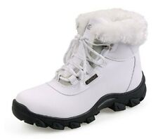 Woman Outdoors Plush Cotton Shoes Lady Snow Boots Non-slip Rubber Soles Waterpro