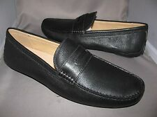 NEW IN BOX MENS COACH NEAL  BLACK  PEBBLED LEATHER DRIVING LOAFERS SHOES