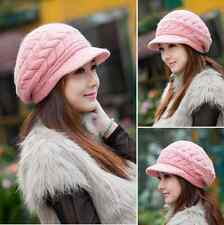 New thick winter women knitting with loose cap warm ski cap hat 8 colors