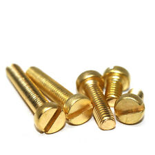 M2 M2.5 M3 M4 M5 M6 SOLID BRASS MACHINE SCREWS SLOTTED CHEESE HEAD BOLTS DIN84