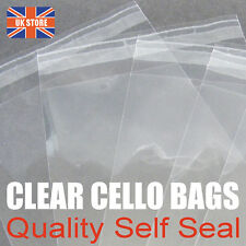 Cello Bags for Greeting Cards C6 C5 A4 A3 155mm & 130mm Cellophane Peel & Seal