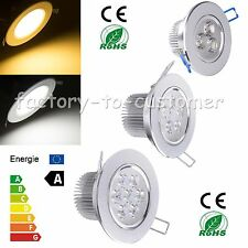 Dimmable 9W 12W 15W 18W LED Ceiling Recessed Down Light Lamp Fixture Kit +Driver