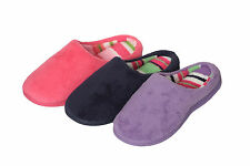 Ladies Winter Plush House Slipper With Memory Foam Sole And Rubber Bottom