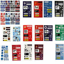 OFFICIAL LICENSED FOOTBALL TEAM CLUB BEDROOM WALL CRAFT BOOK FUN STICKERS SET
