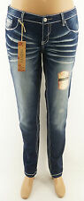 Amethyst Skinny Jeans Emma Juniors Plus Low Rise Blue Denim