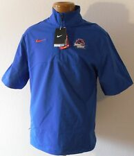NWT Nike Boise State Broncos Mens Hot Sideline 1/4-Zip Pullover Top S Blue $70
