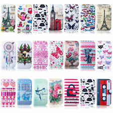 For Samsung Wallet Flip Leather Stand Soft Case Cover Retro Flower Eiffel Tower