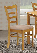 Round Dropleaf Kitchen Bistro Dining Set, Table + Chairs Light Oak Honey Natural