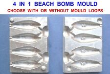 NEW 4 IN 1 BEACH BOMB MOULD 2oz FOR SEA RIVER COARSE CARP FISHING LEADS WEIGHTS