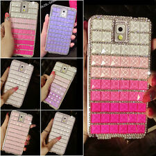 Luxury Bling Crystal Diamond Rhinestone Hard Phone Case Cover For Samsung Galaxy