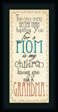 Mom and Grandma by Jo Sign Mothers Day Gift Framed Art Print Wall Décor Picture