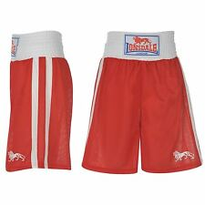 Lonsdale London Boxing Trunks Shorts Mens Red White
