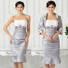 Free jacket mother of the bride/groom dress women formal occasion outfit/suit T1