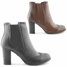 WOMENS LADIES FAUX LEATHER FLAT PULL ON ANKLE HEEL CHELSEA GUSSET BOOTS SIZE