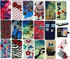 Butterfly Bow PU Leather Wallet Card Stand Flip Cover Case for Samsung Galaxy