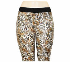 NEW LADIES WOMENS  LEOPARD PRINT JEGGINGS STRETCHY JEANS LEGGINGS UK SIZE 8-16