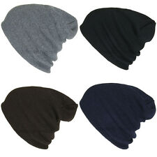 Plain Beanie Ski Cap Skull Hat Warm Solid Color Winter Cuff New Men's Women's