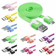 3FT Micro Flat USB Data Charger Cable For Samsung HTC Motorola Cellphone tablet
