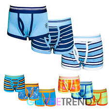 Boys 3 Pack Neon Plain Boxers Underwear Pants Cotton Shorts Trunks Multipack New