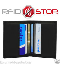 RFID NFC Blocking Travel Pass Oyster Protector Holder Genuine Leather wallet