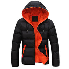 TOP HOT  Men's Winter Warm Hooded Down Coat Pullover Hoodie Jackets Padded Tops