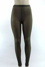 NEW GYPSY JUNKIES Sexy Womens Mesh Highwaisted Leggings Dark Green Spandex S M L