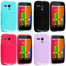 For Motorola Moto G TPU Glitter Bling Rubber Design Color Skin Case Cover