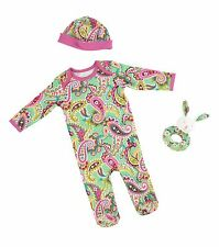 Vera Bradley 3 Pc. Layette Set in Tutti Frutti, 6-9 months