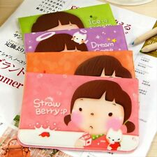 Sweet Cartoon Cooky Girl Printed Card Holder Cute Mini Credit ID Cards Short Bag