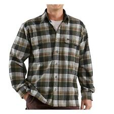 New Carhartt LS Cold Weather Flannel Button Shirt All Sizes Pocket 100094 $75