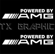 POWERED BY AMG DECAL MERCEDES BENZ VINYL STICKER 1 SET OF 2 RACING SPORT