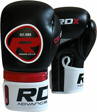 RDX Rex Leather Boxing Gloves MMA Punch Bag Fight Muay Thai Grappling Kick US