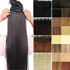 """ONE PIECE CLIP IN REMY REAL 100% HUMAN HAIR EXTENSIONS 16""""18""""20""""22"""" US SHIP vv"""