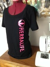 HERBALIFE Woman's T-Shirt / Hot Pink Logo / Cotton T / HOT PINK and Black