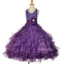 Glitz Rhinestone Sequins Pageant Dress Party Ball Gown Purple 2 4 6 8 10 12 #313