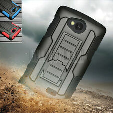 Rugged Armor Hybrid Case Hard Cover Holster For Verizon LG Transpyre VS810PP