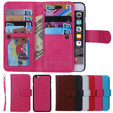 PU Leather Card Holder Flip Wallet Wristlet Purse Case For Various Cell Phone
