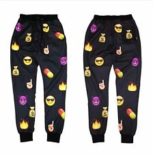 2014 Men Women Casual Sport EMOJI Cartoon Print Thicken 3D Jogger Sweat Pant Hot