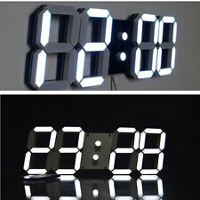 large modern digital led wall clock watches home decoration decor 3d