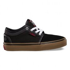 VANS CHUKKA LOW KIDS INDEPENDENT BLACK YOUTH SHOES CASUAL SKATEBOARD SNEAKERS