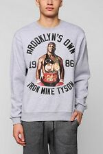 Gray Iron Mike Tyson Pullover Sweatshirt Lancaster Roots Of Fight NYC Brooklyn