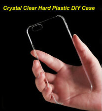 Crystal Clear Transparent Hard Plastic DIY Back Case Cover Skin For Cell Phone