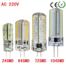 1xLed Silicon Dimmable Lamp G4 3014 SMD AC 220V 1W 4W 6W 7W Super Brighter
