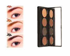 KEU 4 Color Eyebrow Powder Palette Cosmetic Makeup Shading Kit with Brush Mirror